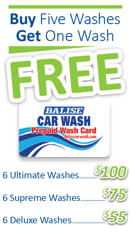 Buy 5 Washes, Get One Free
